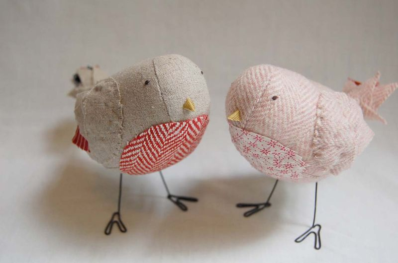 I 39ve been busy sewing up custom wedding birds working on a new project with